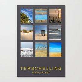 Terschelling Boschplaat Canvas Print