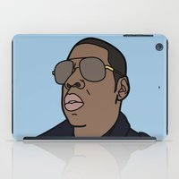 jay z iPad Cases featuring Jay-Z by agr_artwork