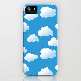 Cartoon clouds pattern iPhone Case