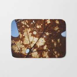 Sunlight through a crackled Autumn Leaf Bath Mat