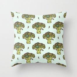 brilliant broccoli Throw Pillow