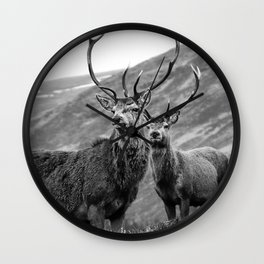 Stags Wall Clock