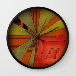 Abstraction. Sunset. Wall Clock