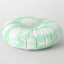 Mint and turquoise ethnic ornament. Floor Pillow