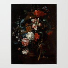 """Philip van Kouwenbergh """"Flowers in a Vase"""" Poster"""