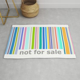 Not For Sale Barcode - Colorful Rug