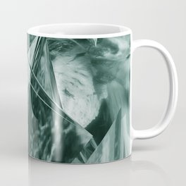Green Abstract Eagle Nest Coffee Mug