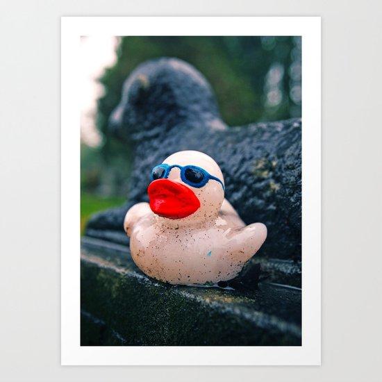 Graveyard duck Art Print