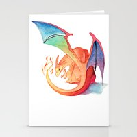 charizard Stationery Cards featuring Charizard by Natalie Huber