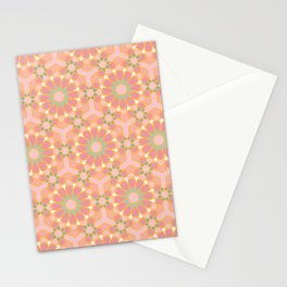 Autumn colors islamic geometric pattern Stationery Cards