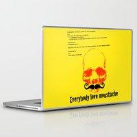 moustache Laptop & iPad Skins featuring Moustache by morganPASLIER