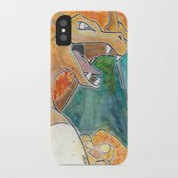 charizard iPhone & iPod Cases featuring Charizard by Luke Jonathon Fielding
