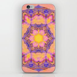 Delicate kaleidoscope in the colors of summer iPhone Skin