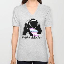 Papa Bear Intersex Unisex V-Neck