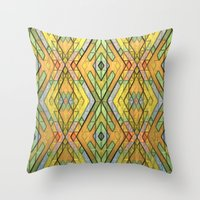 deco Throw Pillows featuring Deco Diamonds by Lyle Hatch