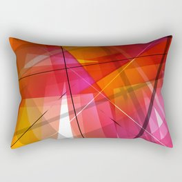 Transparent Shapes Warm Colorful Geometric Abstract Art Rectangular Pillow