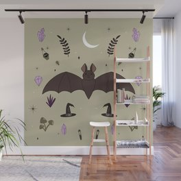 Adorable Bats Wall Mural