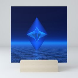 Blue Crystal Abstract Mini Art Print