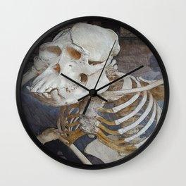 Bones and Bananas Wall Clock