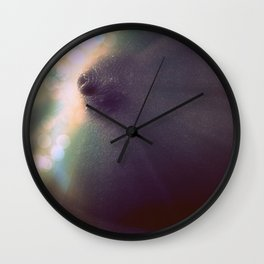 Magnificent Breast : Teal Bokah Sparkle Wall Clock