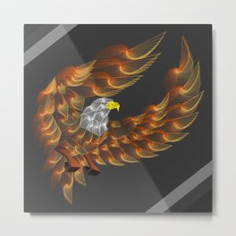 Eagle color zentangle art Metal Print