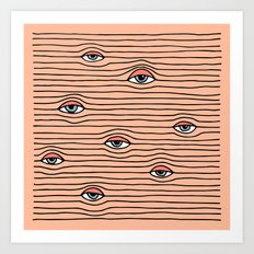 PEEPING TOM Art Print