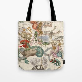 Vintage Constellation Map - Star Atlas Tote Bag