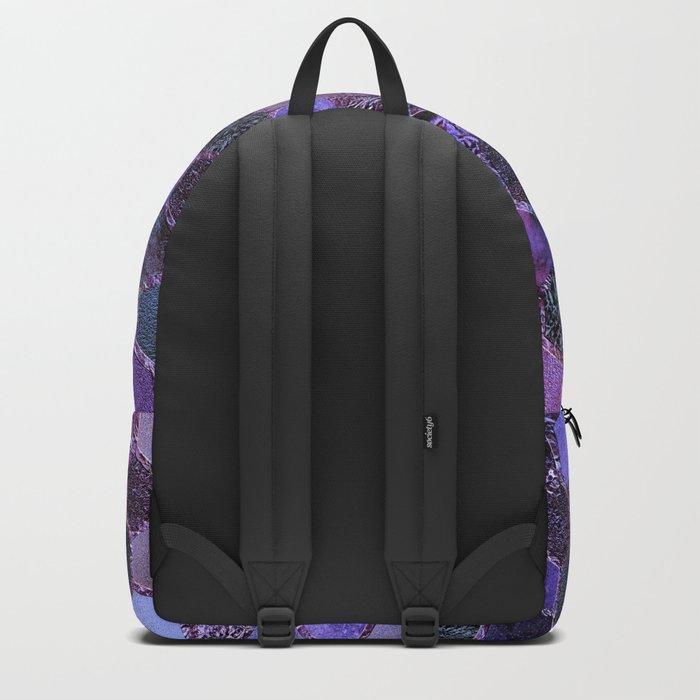 Purple geometric hexagonal elegant & luxury pattern Backpack