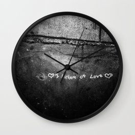 New York City I Dream of Love Wall Clock