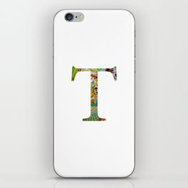 "Initial letter ""T"" iPhone Skin"