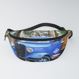 Blue Aged Truck Fanny Pack