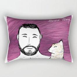 Beard Boy: Alex & Furry Friend Rectangular Pillow