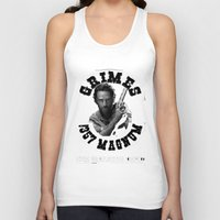 rick grimes Tank Tops featuring Rick Grimes & .357 Magnum by SwanniePhotoArt
