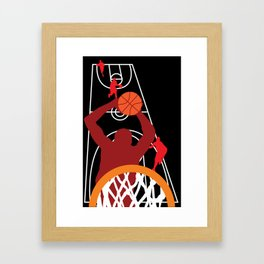 Play Basketball! Framed Art Print