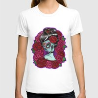 baroque T-shirts featuring Catrina Baroque by Tattoo Sandra