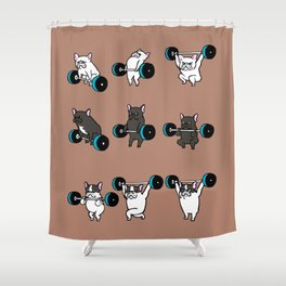 OLYMPIC LIFTING  FRENCH BULLDOG Shower Curtain
