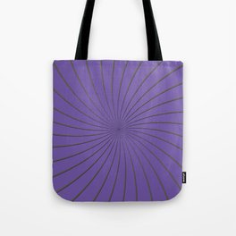 3D Purple and Gray Thin Striped Circle Pinwheel Digital Graphic Design Tote Bag