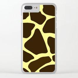 Giraffe Print Clear iPhone Case