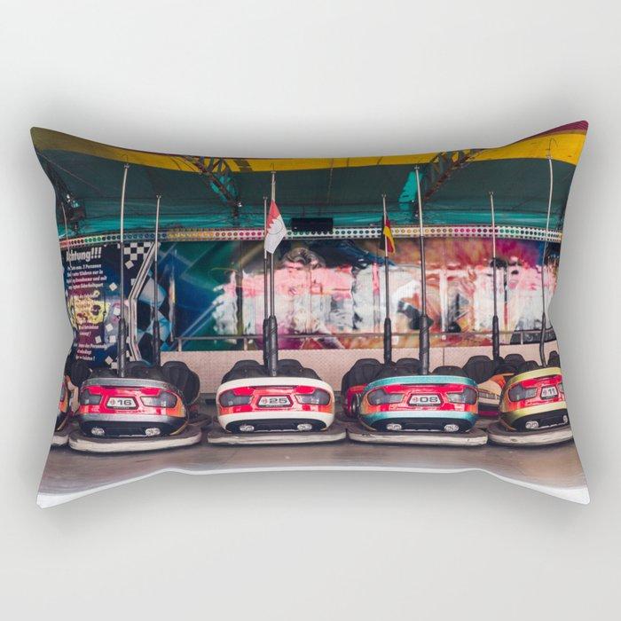 Bumper car auto Rectangular Pillow