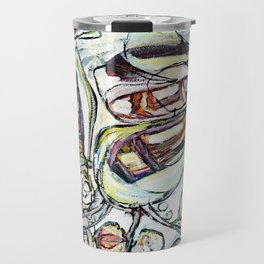 'colorful flowers brittmarks' Travel Mug
