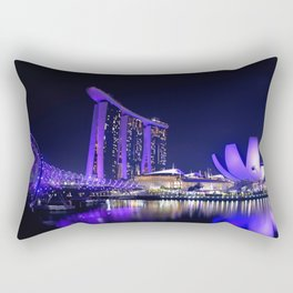 Blue Singapore by #Bizzartino Rectangular Pillow