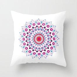 Dotty Mandala Throw Pillow