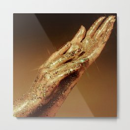 Gold Fingers Metal Print