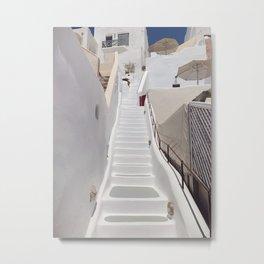 White Stairs Metal Print
