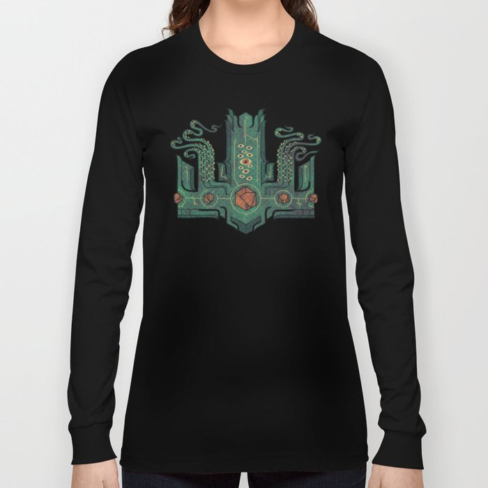 The Crown of Cthulhu Long Sleeve T-shirt