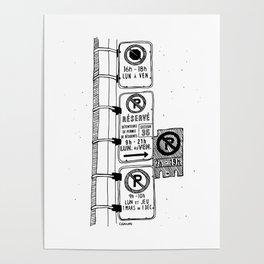 Montréal - Parking Hell - Black Poster