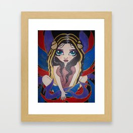 Colourful Spiritual fairy (artist Alysia Kaiser) Framed Art Print