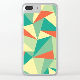 Vintage Geometric Clear iPhone Case