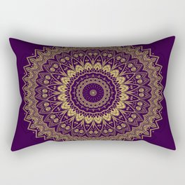 Harmony Circle of Gold on Purple Rectangular Pillow