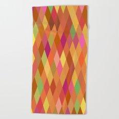 Summer Heat Harlequin Abstract Geometric Beach Towel